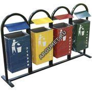 Урна для раздельного сбора мусора УДС-4  800x1200x210мм.