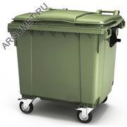 """Пластиковый мусорный контейнер """"Стандарт 1100/Р"""""""