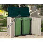 Бокс для хранения мусорных контейнеров «2-М» (для хранения 2-х контейнеров -240л.)