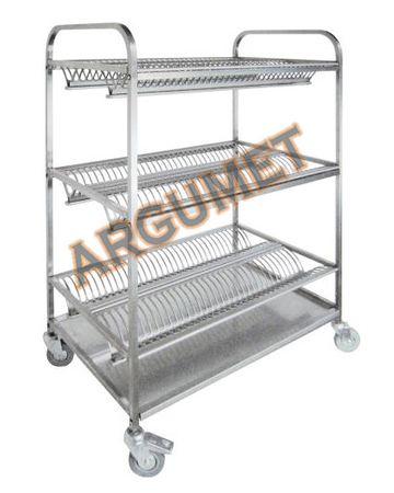 "Тележка для тарелок ""ТТ-3"" AISI 430 (1200х600х1500h)"