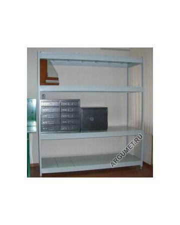 Стеллаж быстро-сборный БСТ-24, ВxШxГ: 2200x1800x1000 мм